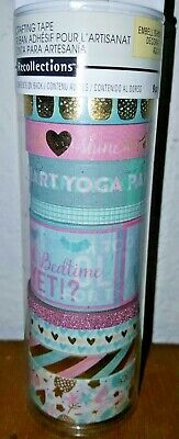 9 Pc Recollections Washi Tapes Pastel Yoga Twerk Embellishment