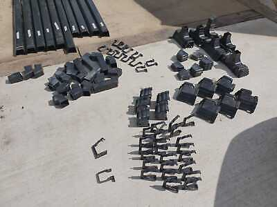 Black Square Guttering / Down Pipes And Fittings Full Large Bungalow Used £120