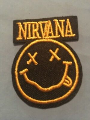 """Nirvana Embroidered Iron/Sew ON Patch 2""""x 1.50"""" Rock Metal Music"""
