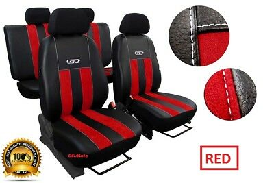 VOLKSWAGEN POLO BLUEMOTION Mk5 2009-2017 LEATHER /& ALICANTE TAILORED SEAT COVERS