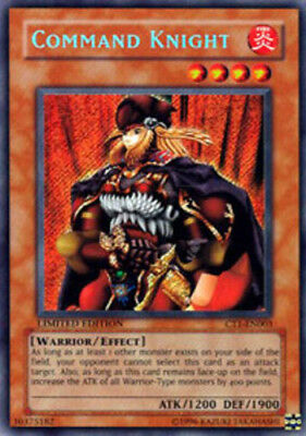 YuGiOh Command Knight - CT1-EN003 - Secret Rare - Limited Edition Moderately Pla