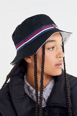 ebf76cd876f718 NWT FILA REVERSIBLE Bucket Hat Urban Outfitters Navy/White OS ...