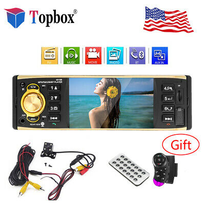 """4.1"""" HD 1DIN Car Stereo MP5 Player Bluetooth FM Radio AUX/SD/TF +Rearview Camera"""