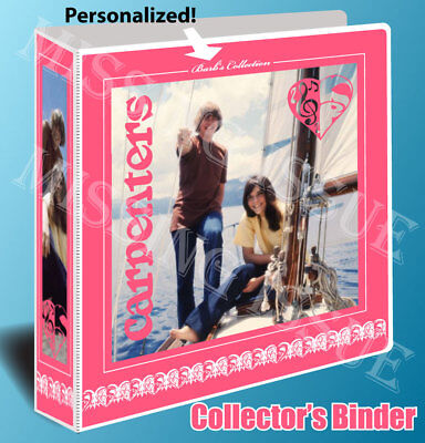 The Carpenters Personalized Collector's Binder! Karen and Richard Carpenter
