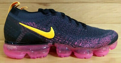 Nike Air Vapormax Flyknit 2 Size 9 Gridiron Laser Orange Pink Black 942842-008