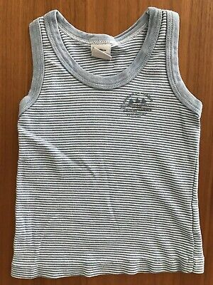 Petit Bateau Boys Girls Kids Blue White Stripe Tank Top 2yr 2ans 2 86cm