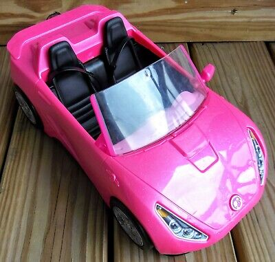 Barbie Glam Convertible Pink Car Doll 2 Seat Mattel 2016 USED