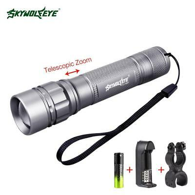 SKYWOLFEYE  Q5 3500 lm LED Bicycle Flashlight 360° Clip+Battery Charger GI