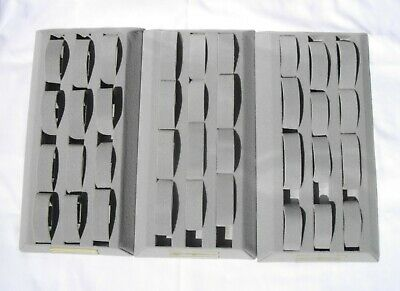 Watch Display for 12 watches x 3 trays gray fuzzy