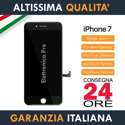 Display Apple iPhone 7 (7G) A1778 Schermo Lcd IPS Retina + Touch Screen Nero