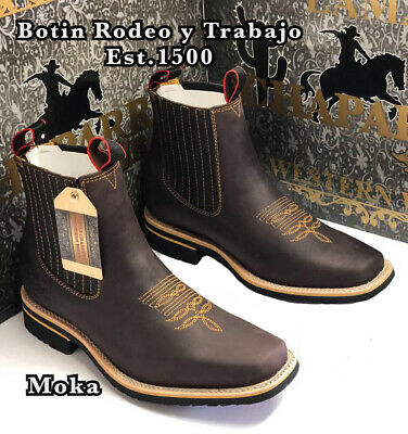 Men's Rodeo Cowboy Boots Genuine Leather Western Square Toe Bota