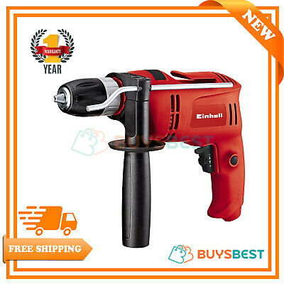 Einhell Corded Impact Drill with Electronic Speed Control, 650 W - Red TCID650