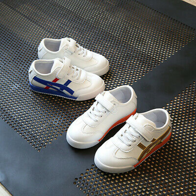 Kids White Casual Trainers Boys Girls Infants Walking Shoes Pumps Toddlers Size