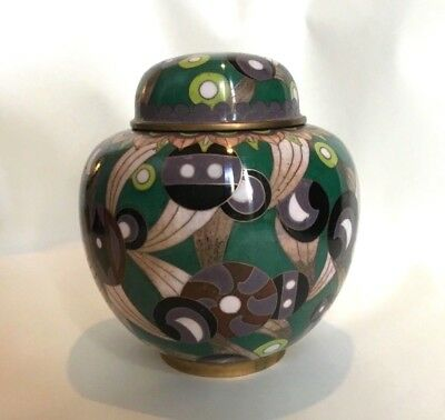 Outstanding cloisonné ginger jar, Japanese/ Chinese, Art Deco?