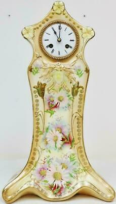 Rare Antique French 8 Day Hand Painted Vintage Sevres Porcelain Mantel Clock