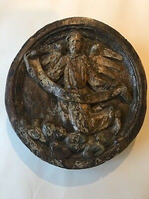 Rare and wonderful 15th century carved angel