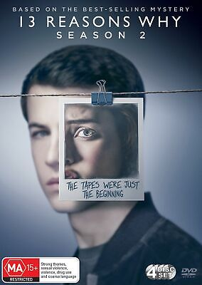 13 Reasons Why Season 2 DVD Region 4 NEW // PRE-ORDER for 29/05/2019