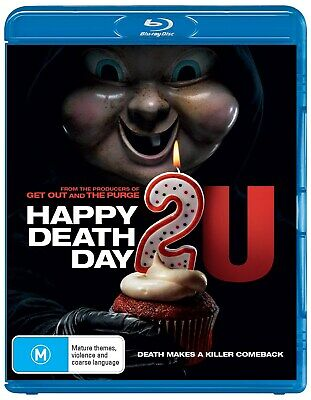 Happy Death Day 2u Blu-ray Region B NEW // PRE-ORDER for 29/05/2019