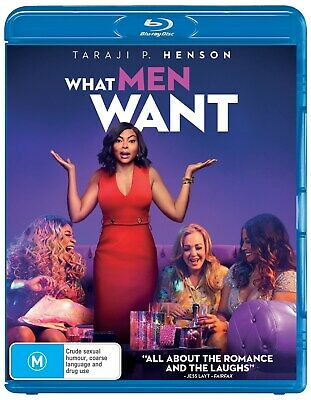 What Men Want Blu-ray Region B NEW // PRE-ORDER for 29/05/2019