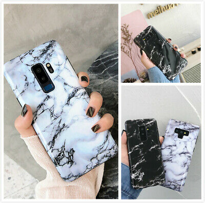 For Samsung Galaxy S10 9 Plus Note Slim Fit Marble Case Protective Phone Covers
