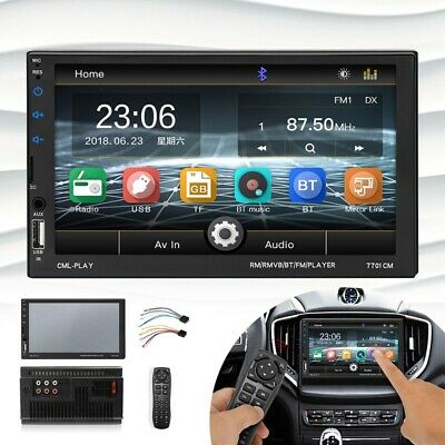7 Inch 2 DIN Car MP5 Player Radio Video Stereo Bluetooth SD/FM/USB Touch Screen