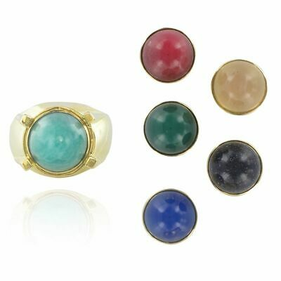 Ring Gold Stones Interchangeable