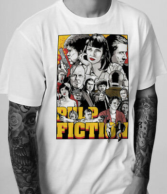 Pulp Fiction Movie T-Shirt Tarantino Cult Retro Indie 90S 1990S Film Poster Art