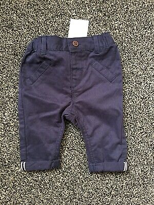 BNWTS Baby Boys Navy Smart Chinos Next Upto 3 Months Trousers