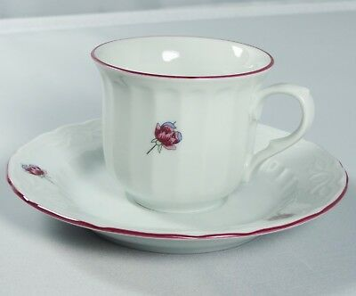 Turkish Anatolian Porcelain Coffee Set with Small Pink Flower Design -Great Gift