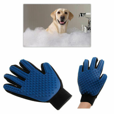 Pet Grooming Glove Gentle Deshedding Brush Efficient Dog Cat Fur Hair Remover