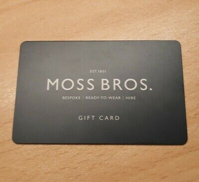 Moss Bros £50 GIFT CARD CLOTHES VOUCHER INSTORE & ONLINE (discounted 20%)