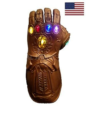 US! Avengers Infinity War Thanos LED Light Gauntlet Glove 10 -Adult FREE SHIP