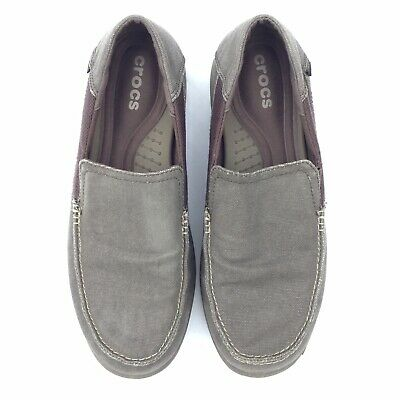 39eed77bb Crocs Mens Santa Cruz 2 Luxe Slip On Loafer Flats Shoes Size 11 Brown Shoes