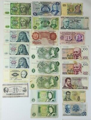 23 Billets Anciens. Divers Pays D'europe. Vv. Aa.