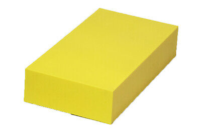 "Plastic Block for Machining (Yellow) - 2"" x 6"" x 12"" - ABS"