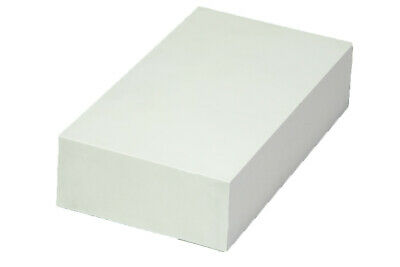 "Plastic Block for Machining (White) - 2"" x 6"" x 12"" - ABS"