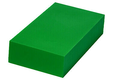 "Plastic Block for Machining (Green) - 2"" x 6"" x 12"" - ABS Sheet"