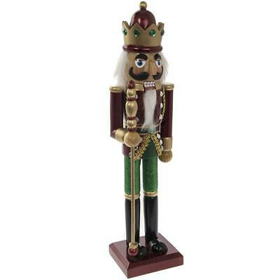 Victorian Style Wooden Christmas Nutcracker Soldier King Xmas Decoration 38cm