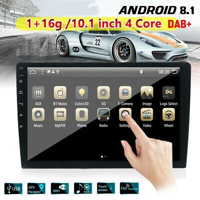"Double 2Din 10.1"" Android 8.1 Car Stereo no DVD GPS Navi Radio WiFi OBD2 4-Core"
