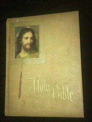 VINTAGE NEW AMERICAN Bible Family Catholic Press Crusade