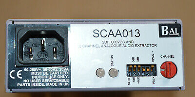 Balbox SCAA013 SDI Serial to  CVBS Composite Converter Analogue Audio Extractor