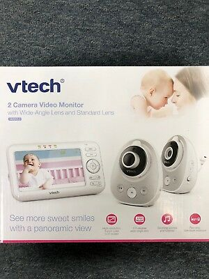 VTech VM352-2 Safe & Sound Expandable Digital Video Baby Monitor with 2 Cameras