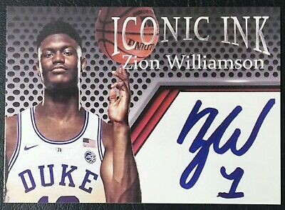 2018 Zion Williamson Iconic Ink Autographed Facsimile Reprint - Mint