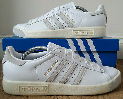 ADIDAS ORIGINALS FOREST Hills White Green Gold UK 8 Casuals Hamburg Gazelle OG