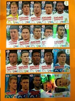 Panini Adrenalyn XL World Cup Brasil 2014 UK edition Top Master... choice cards