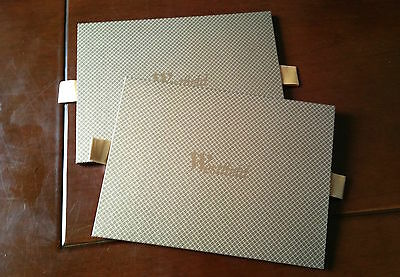 2 x Westfields Gift Card XS Packaging Gold Case with Westfields Bag Brand New