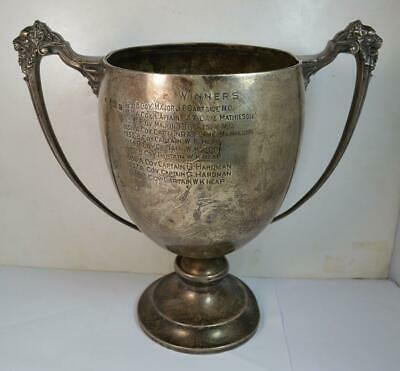 1929 Huge Solid Silver MILITARIA 6th Battalion Guard Mounting Comp Trophy