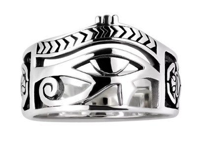 "The ""Eye Of Horus' Egyptian Ring Features Wealth And Symbolism Size 12 Only"