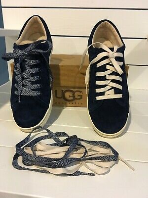 7d95ae1963b NIB NEW UGG Australia Women's Tomi Suede Scallop Sneakers Shoes Size 8.5 US  Navy