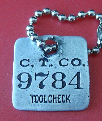 Antique Tool Check Tag: CATERPILLAR TRACTOR COMPANY